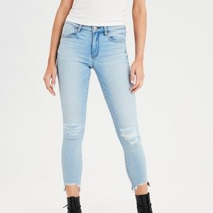 Size 12 American Eagle High-rise Jegging Crop